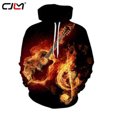 CJLM Men Hoodies Black 2017 Fashion Cool Hoodie Sweatshirts 3d Print Rock N Roll Guitar Hooded Outerwear Jackets Tracksuits Tops