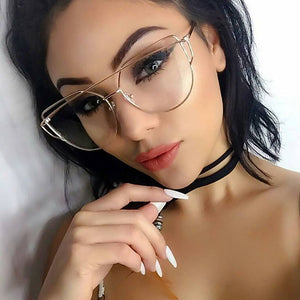 Cat eye Women Sunglasses 2018 New Brand Design Mirror Flat Rose Gold Vintage Cateye Fashion sun glasses lady Eyewear Pink