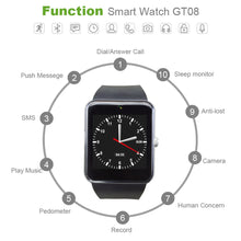 ColMi Smart Watch GT08 Clock Support Sim TF Card Slot Push Message Bluetooth Connectivity Android Phone A1 similar Smartwatch