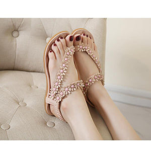Cuculus Big Size 35-41 Flower Women Sandals Fashion Women Flat Sandals Summer Shoes Ladies Sandals 01F669