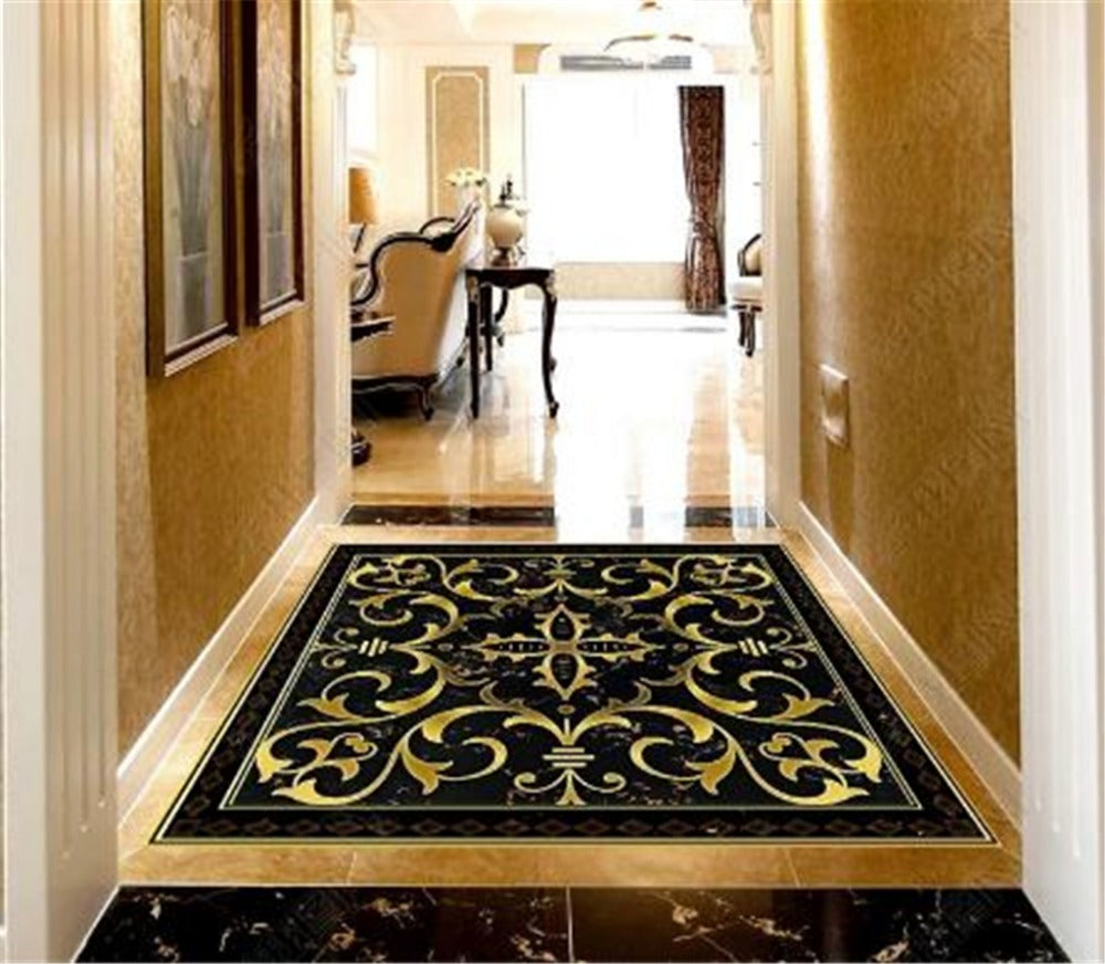 Custom Photo 3d Wallpaper Black Diamond Marble Classical Pattern 3D Room Bedroom 3D Floor Interior Mural 386a7f3d b394 4d8f a37f