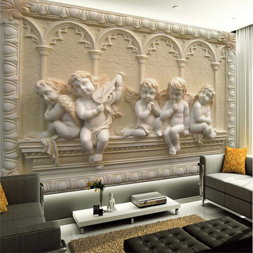 Customized 3D Photo Wallpaper European 3D Stereoscopic Relief Jade Bedroom Living Room Sofa TV Background Wall Mural Wallpaper