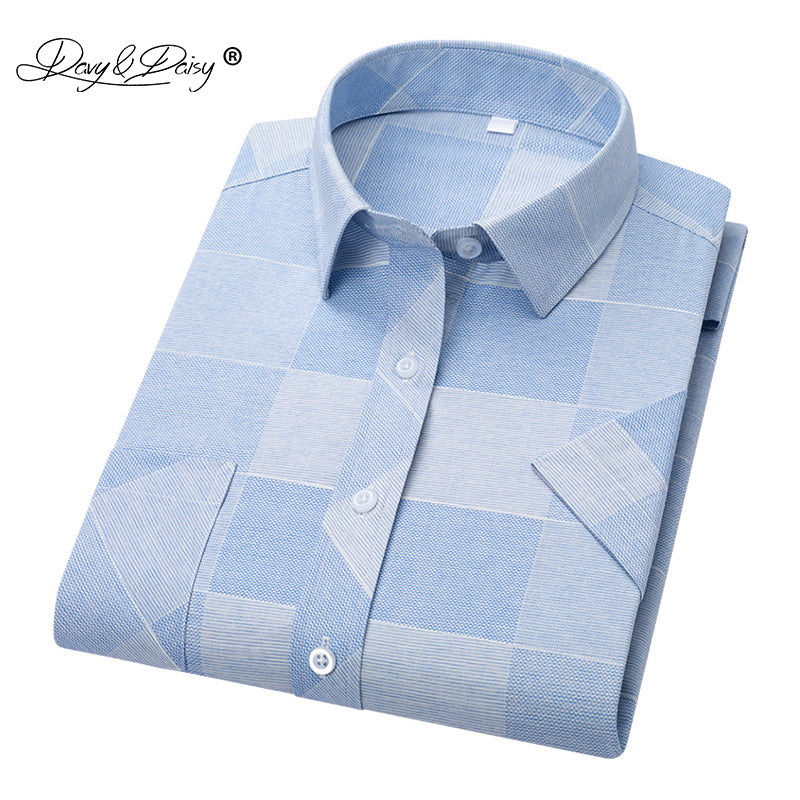 DAVYDAISY 2019 New Arrival High Quality Summer Men Shirt Short Sleeve Shirts Man Print Shirt Male Brand Soft Clothes DS319 1