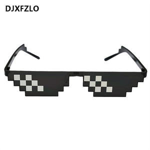 DJXFZLO 2018  Glasses 8 Bit MLG Pixelated Sunglasses Men Women Brand Thug Life Party Eyeglasses Mosaic Vintage Eyewear UV400