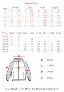 DRAGON BALL Z  Letters Print Sweatshirts Men Cosplay 2018 Winter Warm Fleece Men's Thick Zipper Hoodies Coat Mens Jacket 4XL
