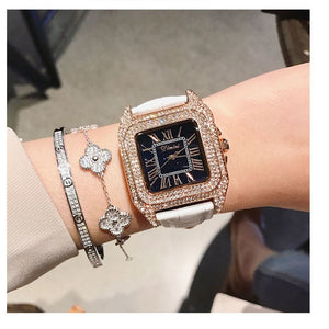 Dimini Watches Women Luxury Brand Lady Crystal Fashion Woman Quartz Wrist Watches Women Female Steel Wristwatch Relogio Feminino