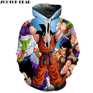 Dragon Ball Pocker Hoodies Men 3d Sweatshirt Hooded Anime Pullover Quality Brand Harajuku Printed Fashion Tracksuit Boy Jackets 1