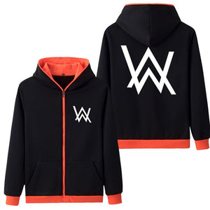 Drop Shipping Spring Antumn Hoodies Sweatshirts Alan Walker Printed mens jacket Fleece Hoody Coat Casual Fashion Clothes