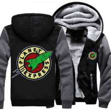 Drop shipping USA Size Adult Men Women Planet Express Thicken Hoodie Zipper Coat Winter Fleece Warm Hooded Jackets Free shipping