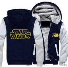 Dropshiping Jedi Knight Winter Jackets and Coats film Star Wars hoodie Darth vader Hooded Thick Zipper Men cardigan Sweatshirts