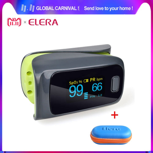 ELERA 10pcs/lot Finger Pulse Oximeter monitor ,Oximetro de dedo oximeter Spo2 Blood Oxygen saturation Body monitor oxymeter