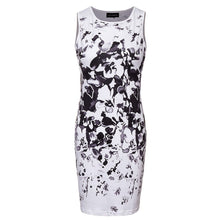 Enough Stock Women Pencil Dress Sexy Bodycon Dresses Female Watercolor Robe White Sleeveless Vintage Print Mini Dress