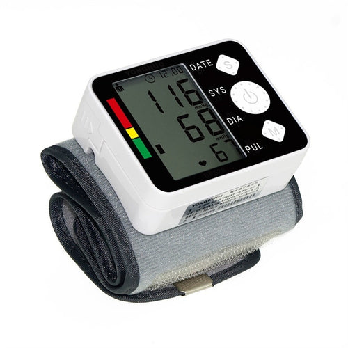 Esfigmomanometro Blood Pressure Tonometer Tensiometro Intelligent Wrist Digital Blood Pressure Meter Heat Rate Monitor