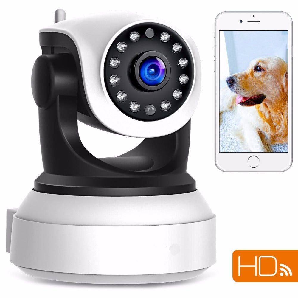 FGHGF 720P Wireless IP Security Camera Baby Pet Video Monitor Home Security System with Pan and Tilt/Two Way Audio /Night Vision