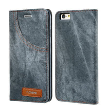 FLOVEME For iPhone 7 8 Plus Case Retro Denim Cloth Wallet Phone Cases For iPhone 7 Card Slot Flip Stand Cover For iPhone 7 Plus