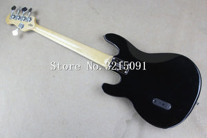 Factory Custom Shop 2015 new Top Quality Ernie Ball music man stingRay black electric bass 5 string Musicman 9V active pickup
