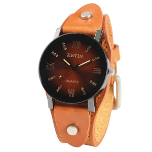 Fashion Brand KEVIN Simple Cool Vintage Stylish Analog Steampunk Wristwatch Women Men Sports Ladies Gifts Montre Femme Relogio