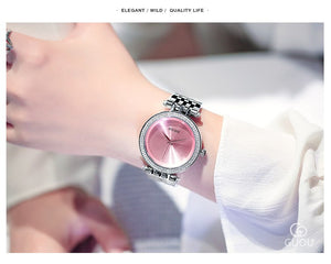 Fashion Exquisite Quartz Women Watches GUOU Luxury Brand Full Steel Watch Women Wristwatches Ladies Watch Saat Relogio Feminino