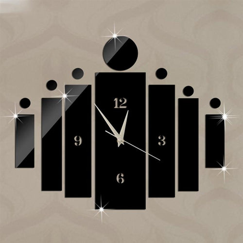 Fashion Wall Clock Modern Design Art Luxury Acryic Non-Ticking Quartz Clock Watch DIY Removable 3D Crystal Mirror Wall Clock