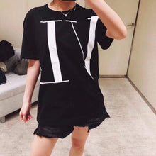 Fashion women Tops & Tees 2019 Runway Luxury famous Brand European Design party style T-Shirts Women's Clothing  WD04602