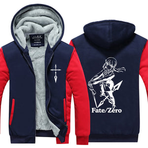 Fate grand order  Luminous Hoodie Anime FGO Alter Coat Jacket Winter Men Thick Zipper Avenger Sweatshirt 1