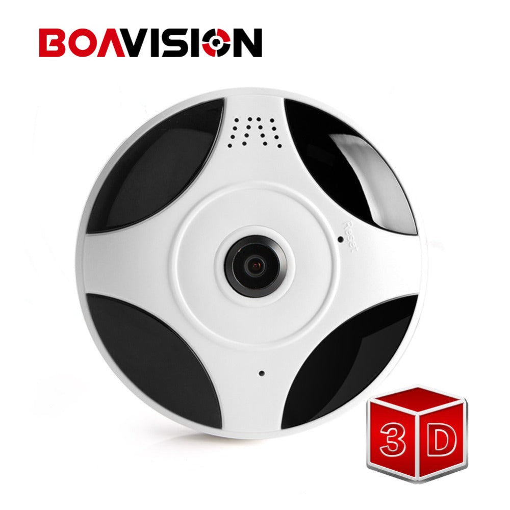 Fisheye VR 360 Degree Panoramic Camera HD 960P Wireless Wifi IP Camera Home Security Surveillance System Camera P2P iCsee