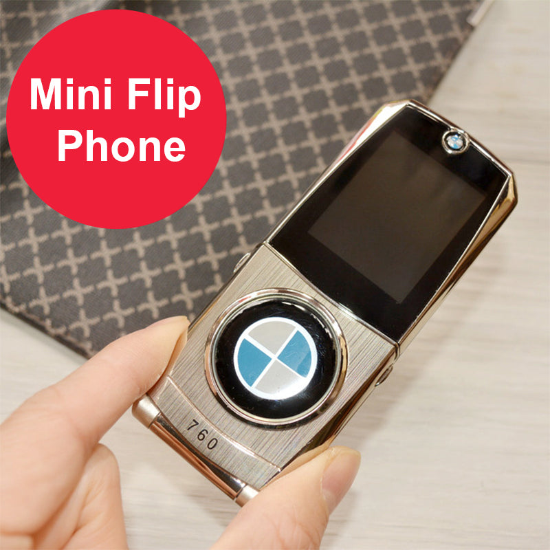 Flip Mobile Phone 760 Dual SIM Cards 1.77 inch Mini Metal Body Car cell phone style Camera Button Russian Keyboard Phone