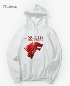 Game Of Thrones The North Remembers House Stark Hoodie Hoodies Sweatshirt Men 2018 New Winter Autumn Hooded Hoody Hip Hop Jacket