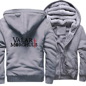 Game of Thrones Valar Morghulis 2017 Hot Sale Warm Fleece Sweatshirts Men Thick Hoodies Fashion Coat Winter Jacket Men Hoodie
