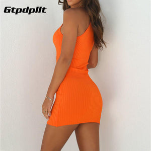 Gtpdpllt 2018 Summer Dress Women Solid Knitted Sexy Dress Black Sleeveless Bodycon Dress Women Plus Size Dresses vestidos