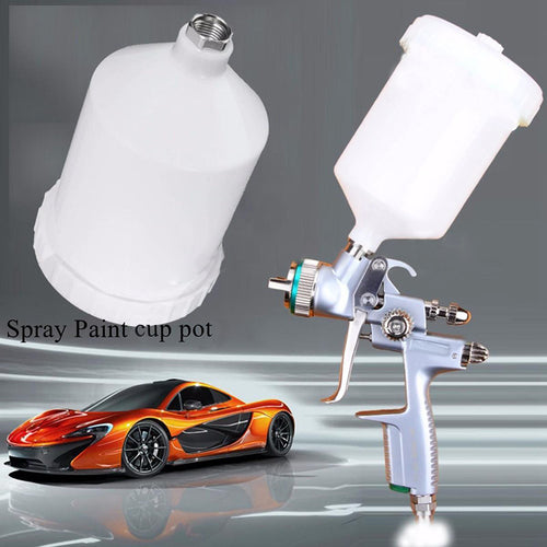 High Quality 600ML Plastic Car Spray Paint Airbrush Cup Auto Paint Care Tool Air Gravity Feed Pot Container