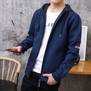 Hoodies Men Zipper 2018 Autumn Casual Mens Hoodies Sweatshirts Cotton Thick Top Fashion Men Hooded Jackets Male Coat Polo Hoody