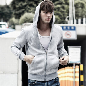 Hoodies Men Zipper Fashion Cap Sweatershirt Mens Hip Hop Street wear Long Slevee Hoodie Jackets Male Slim Tracksuit Mens Moletom