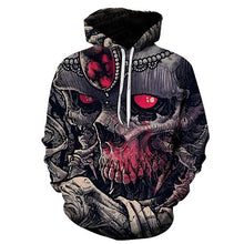 Hot sale Skull red eyes print Autumn Bodybuilding Hoodies Sweatshirts Gyms Clothes Tracksuit Pullover Jacket Long sleeves Hoodie