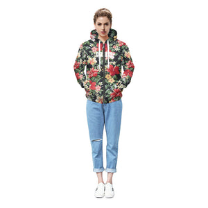 ISTider Winter Jacket Men/Women 3D Hoodies Flowers Printing Zipper Sweatshirts Thick Warm Fleece Outwear Fashion Sweat Homme