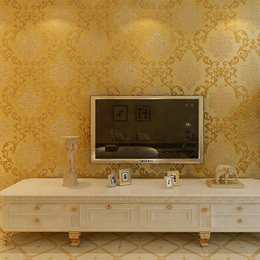 Italian Style Modern 3d Embossed Background Wallpaper For Living