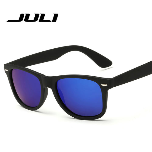 JULI Fashion Sunglasses Men Polarized Sunglasses Men Driving Mirrors Coating Points Black Frame Eyewear Male Sun Glasses UV400