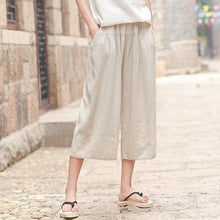 Johnature Casual Wide Leg Pants 2018 New Summer Women Cotton Linen Trouser Comfortably Elastic Waist Patchwork Vintage Pants
