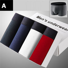KEFUDUO 4Pcs/lot Cotton Men Underwear Boxer Shorts Male Underpants Panties Boxer Shorts Solid Breathable Plus Size Shorts Lot