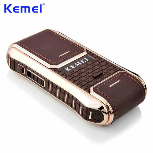 KEMEI Mini Portable Rechargeable Electric Shaver for Men Face Care Hair Trimmer Hair Removal Beard Trimmer Shaving Razor KM-5300
