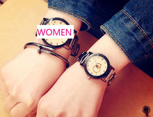 KEVIN New Design Women Watches Fashion Black Round Dial Stainless Steel Band Quartz Wrist Watch Mens Gifts relogios feminino