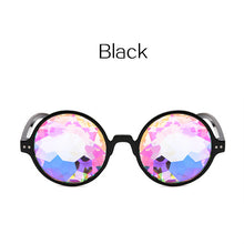 Kaleidoscope Glasses Rave Men Round Kaleidoscope Sunglasses Women Party Psychedelic Prism Diffracted Lens EDM Sunglasses Female