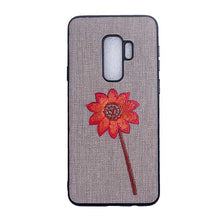 Kerzzil Embroidery Phone Case For Samsung Galaxy Note 8 S8 Cases Retro Fabric Rose Flower Soft Cover For Samsung S9 S8 Plus Case