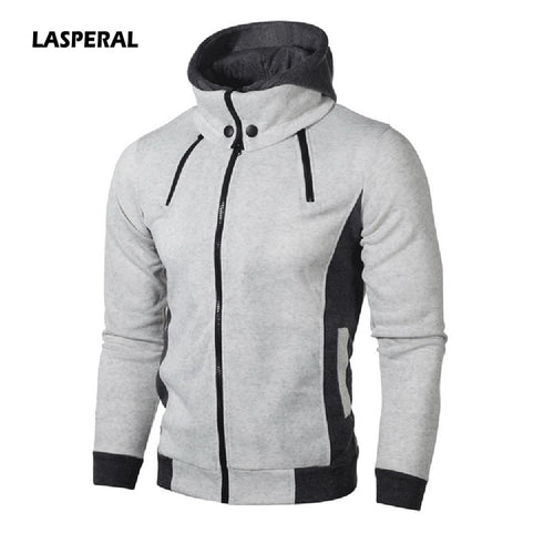 LASPERAL Hoodies Men Cotton Fashion Men Hoodies Casual Mens Sweatshirt Solid Color Warm Zipper 2018 Autumn Winter Men Hoodie 3XL
