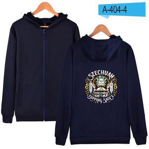 LUCKYFRIDAYF Rick And Morty Hoodie Sweatshirt Zipper Winter Cotton Sweatshirt Men Zipper Hoodie XXS-4XL Coat New Punk Jacket 1