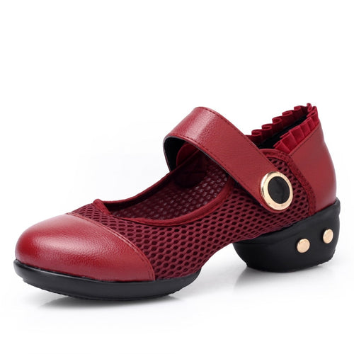Ladies Dancing Shoes Modern Teacher Fitness Women Shoes Dance Sneakers Leather Bottom Sports Shoes Microfiber Latin Shoes Woman