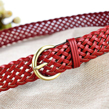 Ladies High Quality Leather Belt Luxury Brand Famous Designer Belts Women Strap For Jeans Pin Buckle Vintage Weaving