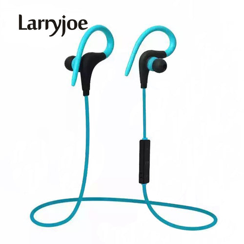 Larryjoe 2017 Stereo Ear Hook Bluetooth Earphone Wireless Sport Headphone Headsets With Micphone Handsfree for iPhone Samsung