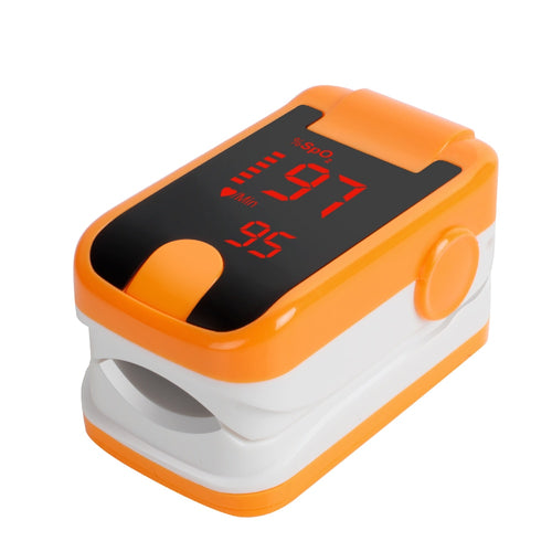 Lastest! Orange Free Ship Wholesale CE & FDA Health Monitors LED Fingertip Pulse Oximeter oximetro - SpO2 & Pulse rate