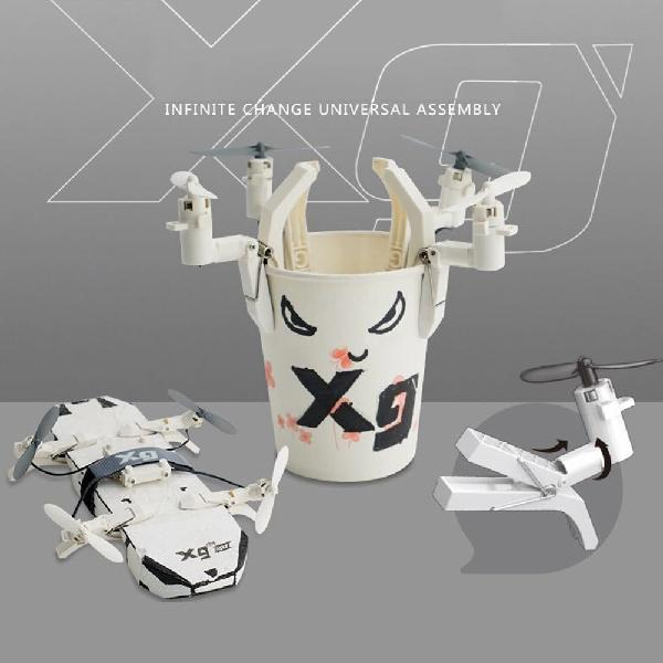 LeadingStar DIY Building Blocks RC Quadcopter MINI drone Detachable Clip Drone Aircraft Toys
